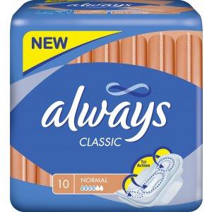 Always Classic Normal clip 10ks dámske hygienické vložky