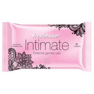 Freshmaker Intimate vlhčené obrúsky 20ks s vitamínom E na intímne použitie