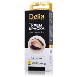 Delia Cosmetics Cameleo profesionálna krémová farba na obočie bez amoniaku 1.0 Black 15 ml