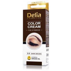 Delia Cosmetics Cameleo profesionálna krémová farba na obočie bez amoniaku Dark Brown 15 ml