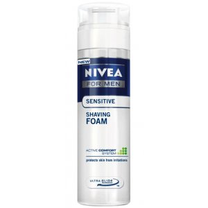 Nivea Sensitive pena na holenie 200ml