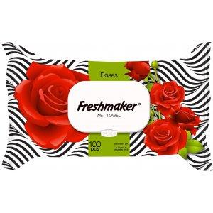 Freshmaker vlhčené obrúsky 100ks Rose uzatvárateľné s klipom