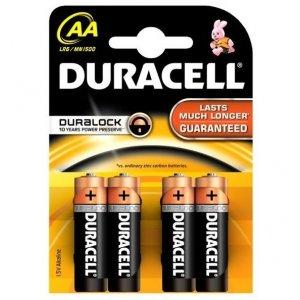 Duracell AA tužkové baterky LR06 / MN1500 4ks