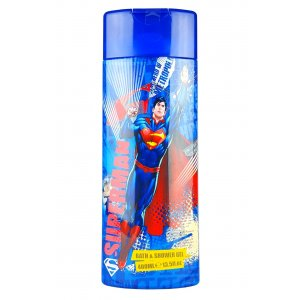 Superman detská pena do kúpeľa+sprchový gél 2v1 400ml