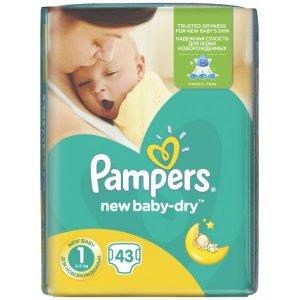 Pampers New Baby-Dry 2-5kg veľ.1 43ks