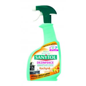 Sanytol dezinfekcia na kuchyne antibakteriálny odmasťovač 500ml s rozprašovačom