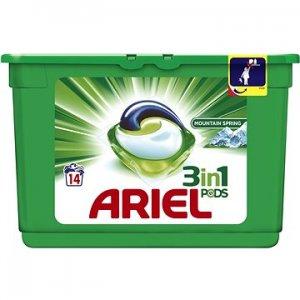 Ariel Mountain Spring gélové kapsule na pranie 14ks
