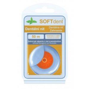 SOFTdent dentálna niť 50m voskovaná s mätou