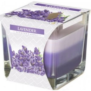 Bispol Tricolor Lavender vonná sviečka snk80-79