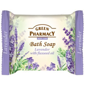 Green Pharmacy Lavender with Flaxseed Oil toaletné mydlo 100g