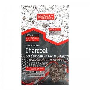 Beauty Formulas pleťová maska s čierným uhlím 13g