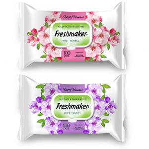 Freshmaker vlhčené obrúsky Apple&Cherry 100ks
