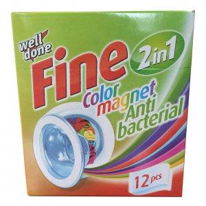 Fine Color Magnet antibakteriálne obrúsky pohlcujúce farby 12ks
