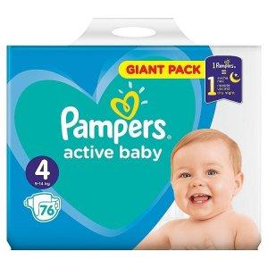 Pampers Active Baby plienky Maxi 9-14kg veľ.4 76ks
