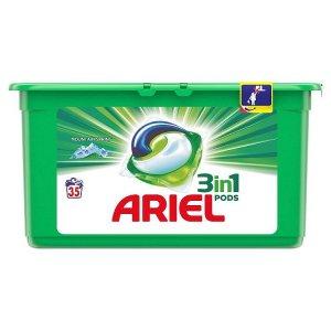 Ariel Mountain Spring gélové kapsule na pranie 35ks