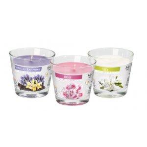 Bispol sviečky sn90 Kvetový mix- 3ks v balení