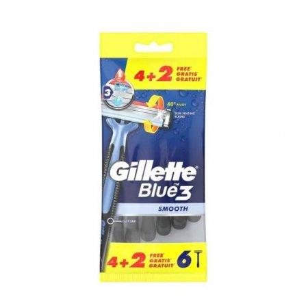 Gillette Blue 3 Smooth strojček na holenie 6ks