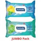 Freshmaker antibakteriálne vlhčené obrúsky na ruky a telo 120ks JUMBO pack
