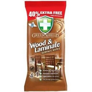 Greenshield Wood&Laminate 4v1 vlhčené obrúsky 70ks