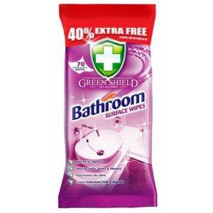 Greenshield antibakteriálne obrúsky na kúpeľne 70ks