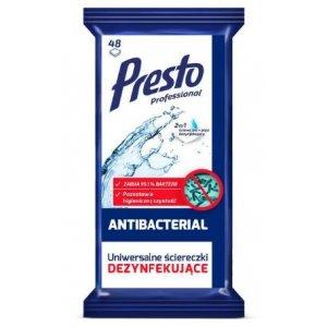 Presto antibakteriálne čistiace vlhčené obrúsky 48ks