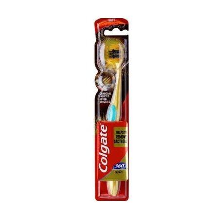 Colgate Charcoal Gold 360°zubná kefka Soft 1ks