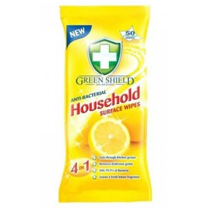 Greenshield vlhčené obrúsky do domácností 70ks s antiba.účinkom