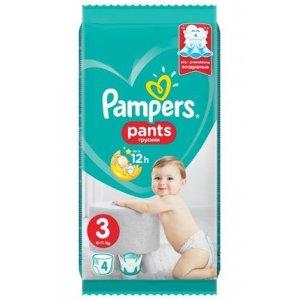 Pampers Pants plienkové nohavičky 6-11kg veľ.3; 4ks