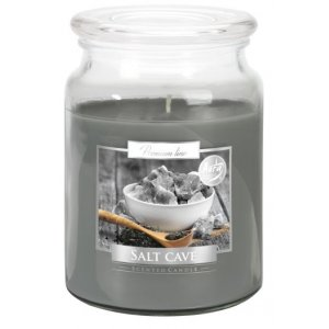Bispol Salt Cave sviečka v skle s viečkom SND99-313  Doba horenia: cca 100 hodín Výška: 14cm Priemer: 9,9cm