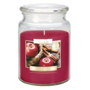 Bispol Apple Cinnamon sviečka v skle s viečkom SND99-87  Doba horenia: cca 100 hodín Výška: 14cm Priemer: 9,9cm