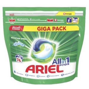 Ariel Mountain Spring gélove tablety na pranie 74ks
