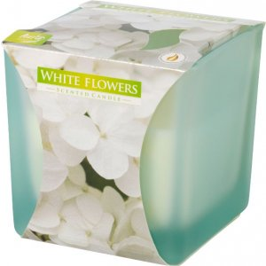 Bispol White Flowers vonná sviečka snk80m-179