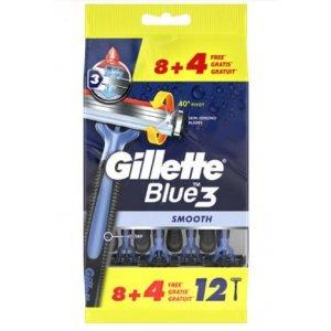 Gillette Blue 3 Smooth strojček na holenie 8+4ks (12ks)