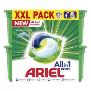 Ariel Mountain Spring gélove tablety na pranie XXL 55ks