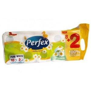 Perfex Kamilka toaletný papier 3-vrstvový 10ks