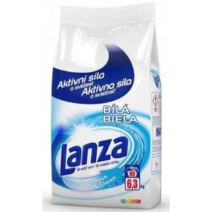 Lanza Fresh & Clean Biela prací prášok 6,3kg na 90 praní