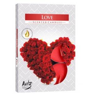 Bispol Love čajové sviečky 6ks p15-105
