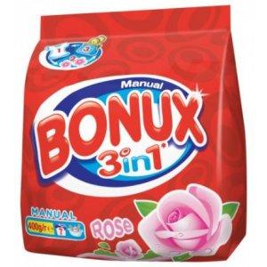 Bonux Rose prací prášok na ručné pranie 400g 7PD