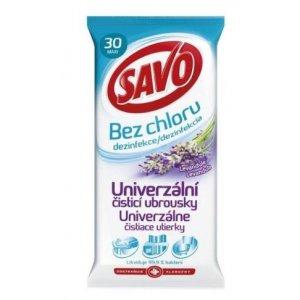 Savo univerzálne čistiace obrúsky bez chlóru Lavender 30ks