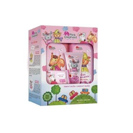 Pink Elephant detský darčekový set pre dievčatá 4ks