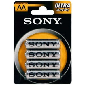 Sony Ultra Heavy Duty AA/4 Zinc tužkové baterky