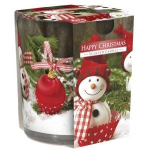 Bispol Happy Christmas vonná sviečka v skle SN72S-25