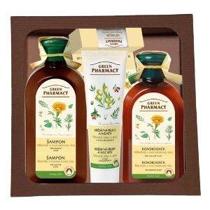 Green Pharmacy Nechtík a rozmarínový olej darčekový set 4ks