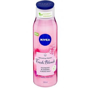 Nivea Fresh Blends Raspberry,Blueberry a Almond Milk dámsky sprchový gél 300ml