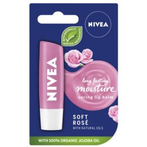 Nivea Soft Rose balzam na pery 4,8g