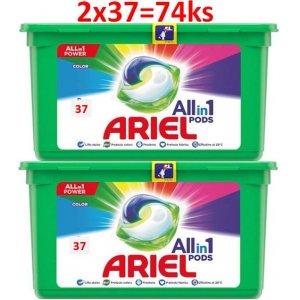 Ariel Color gélové kapsule 74ks
