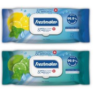 Freshmaker antibakteriálne vlhčené obrúsky na ruky a telo 72ks