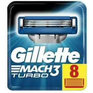 Gillette Mach3 Turbo náhradné hlavice 8ks