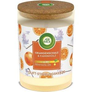Air Wick Life Scents Essential Oils Pomarančová kôra&vonná tyčinka sviečka 185g