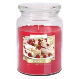 Bispol Raspberry Cloud sviečka v skle s viečkom SND99-329  Doba horenia: cca 100 hodín Výška: 14cm Priemer: 9,9cm